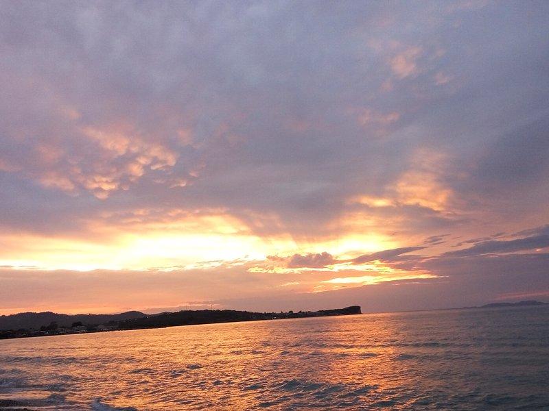 Beautiful Sunset at Acharavi Beach