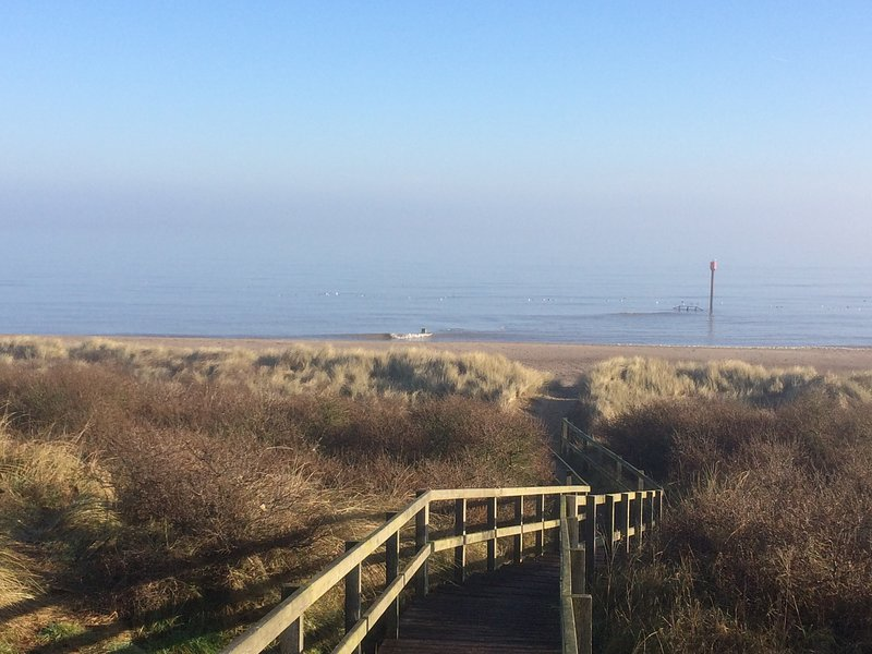 To the beach from the bird hide
