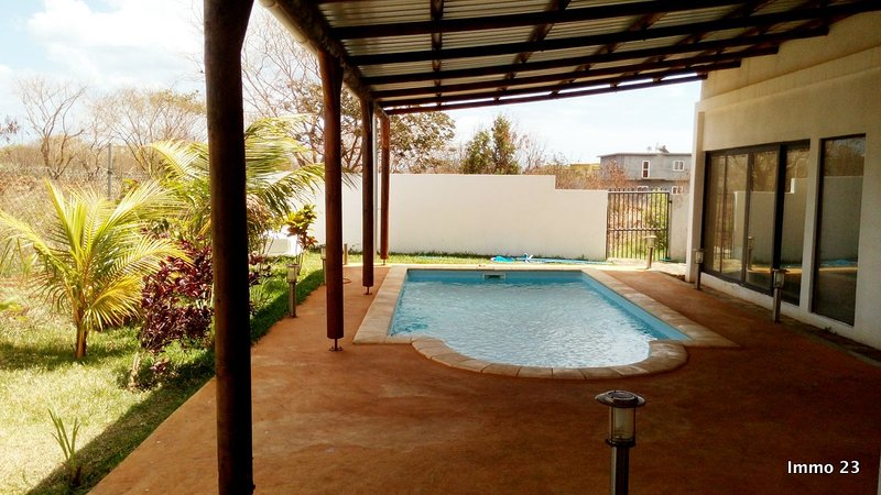 Covered salted swimming pool