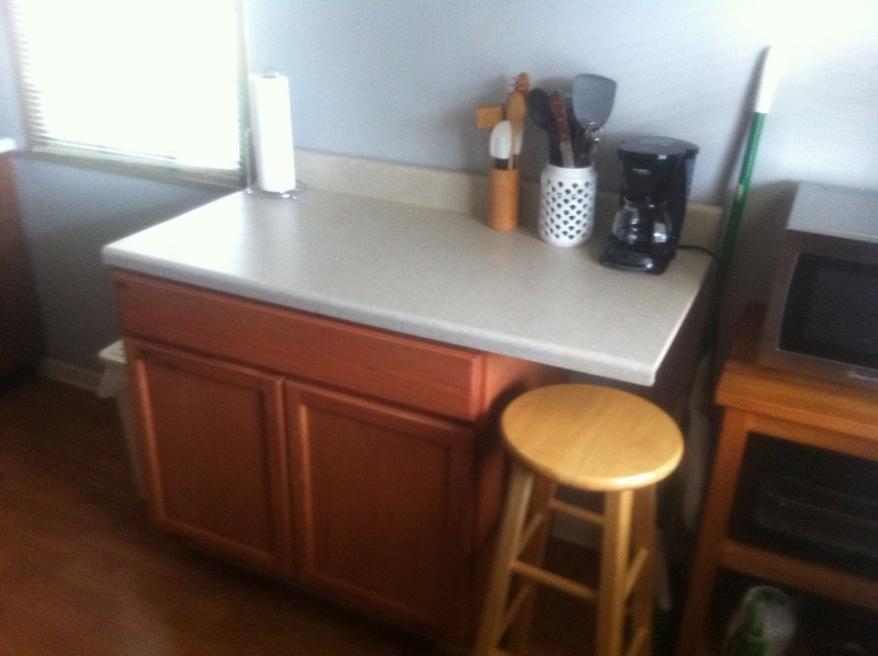Kitchen counter and working area