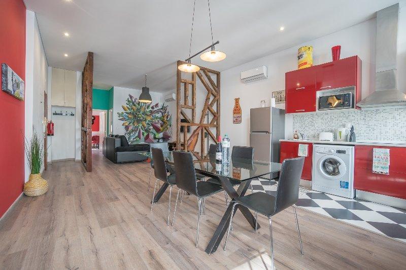 open keuken / eetkamer / woonkamer
