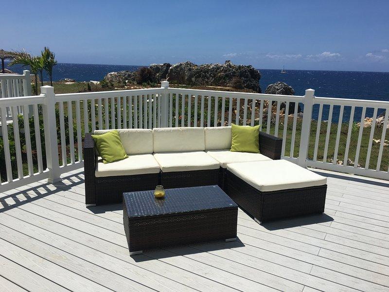 Deck overlooking the ocean