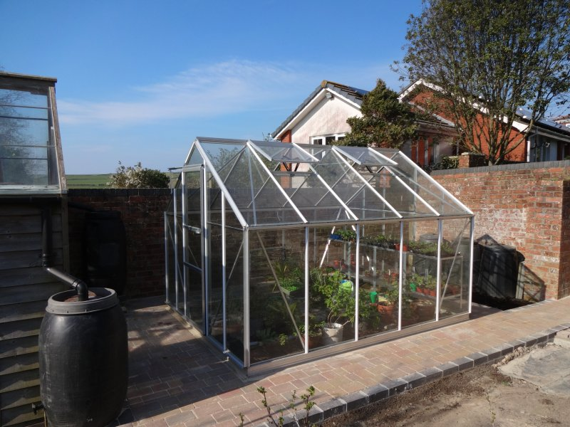 .A new greenhouse replaces the old one(now a fruit cage) Feel free to browse if you wish.
