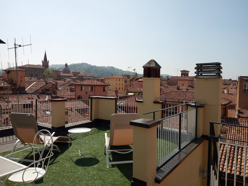 The terrace on the roofs
