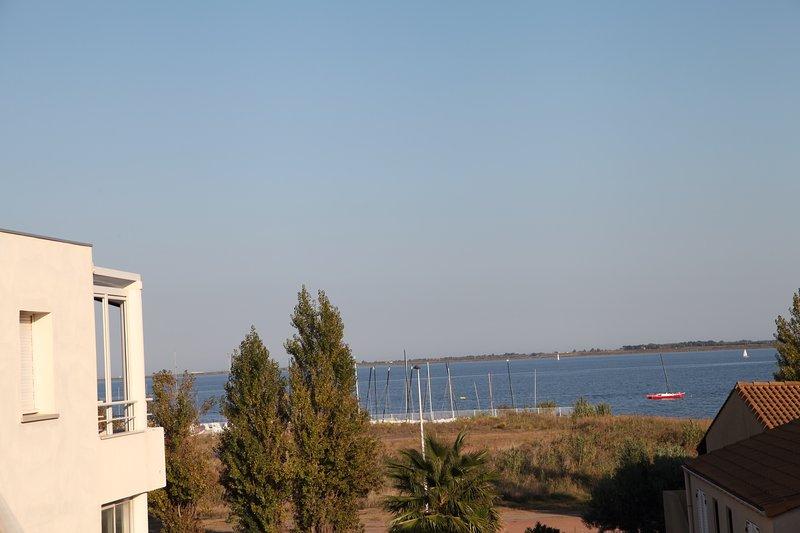 View from South facing terrace towards L'Etang du Thau