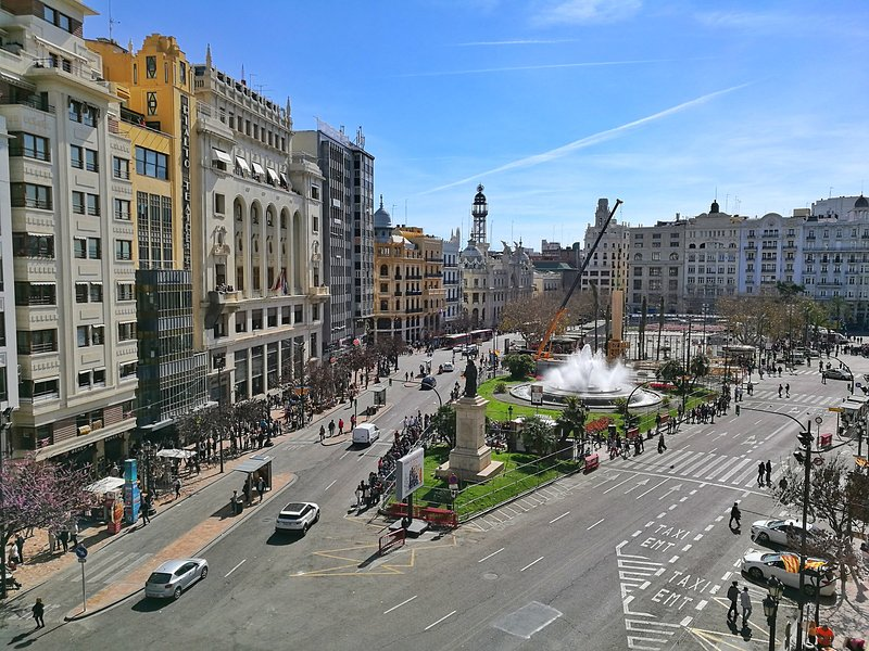 1 min walking from the apartment there is a main square of the city!