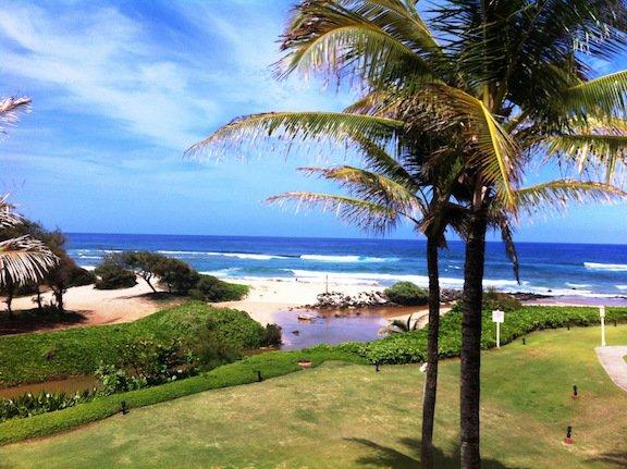 Vue époustouflante panoramique sur l'océan depuis le salon, coin-repas, et un grand balcon véranda.