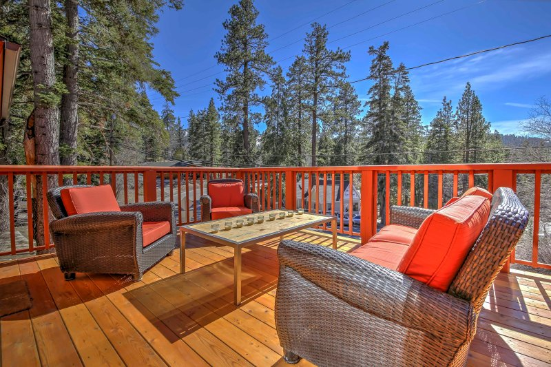 Get comfortable on the spacious deck and take in the surrounding beauty.