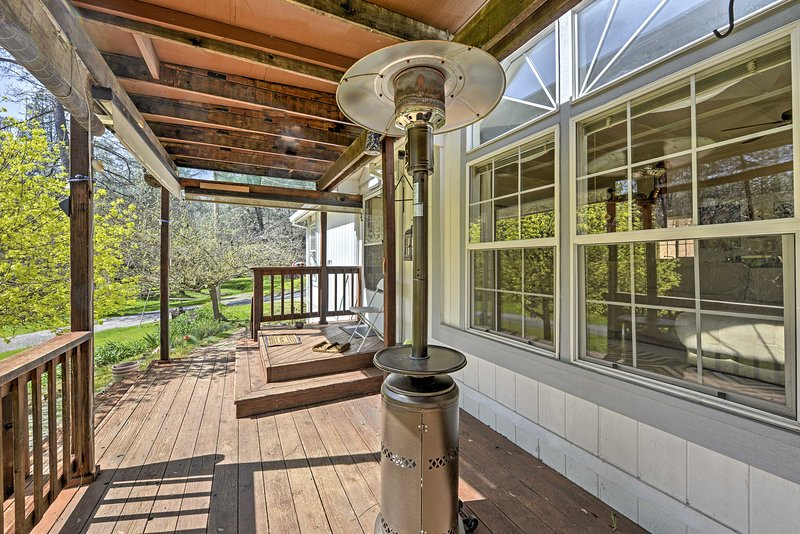 Enjoy spending your days lounging on the covered balcony looking out onto the beautiful property and creek.