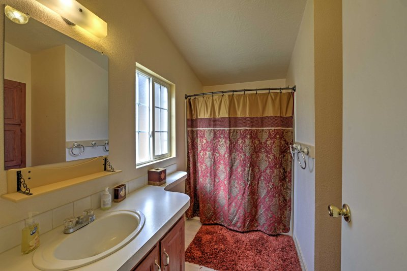 Rinse away your daily activities while you freshen up in the tidy bathrooms throughout the house.