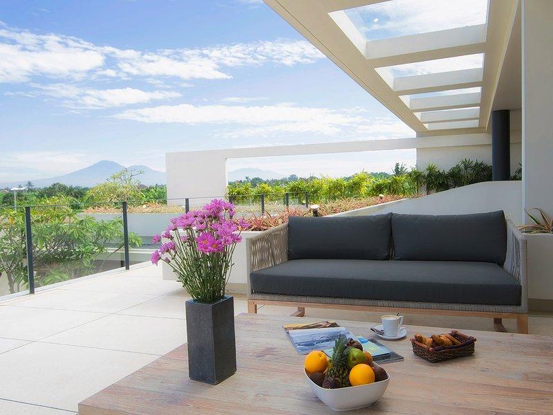 L'Iman Villa - Chambre à coucher principale terrasse