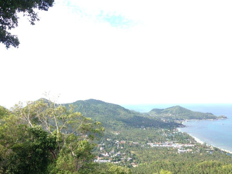La vista en uno de los puntos de vista de la isla, la barra de vistas