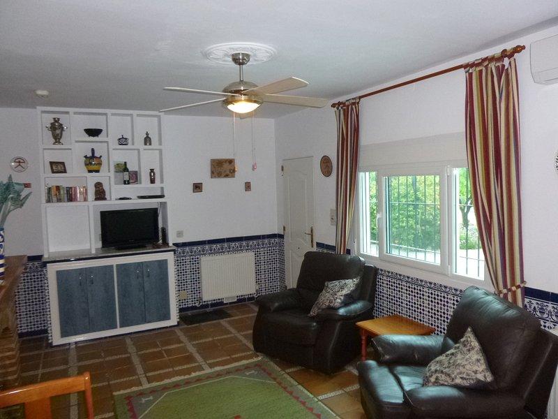 Sitting Room in Orange Grove at Finca Arboleda.
