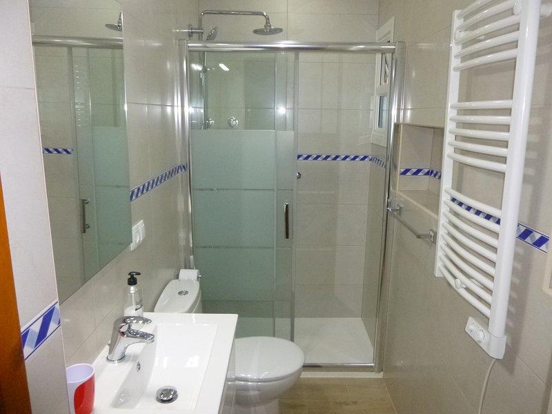 Bathroom in Orange Grove at Finca Arboleda.