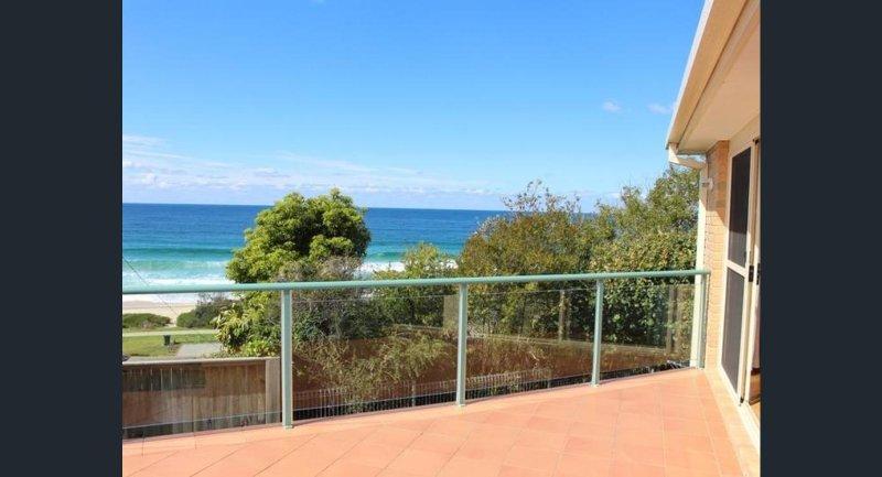 Vista desde el balcón a la playa de Mollymook