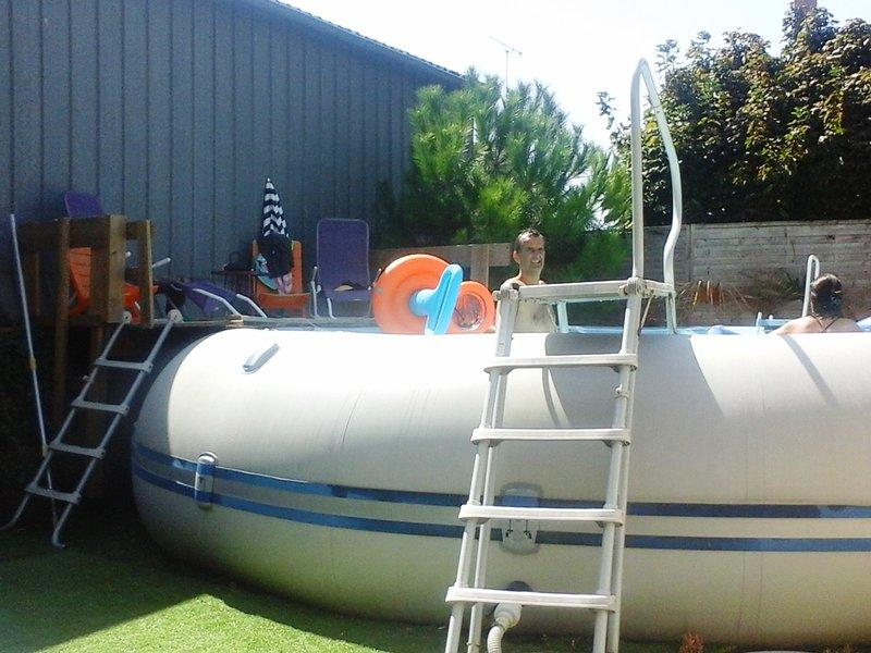 Zodiac Pool: 6.5 m de diâmetro por 1,30 m de altura