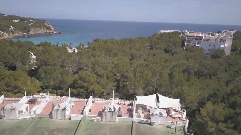 View towards Cala Llenya Beach