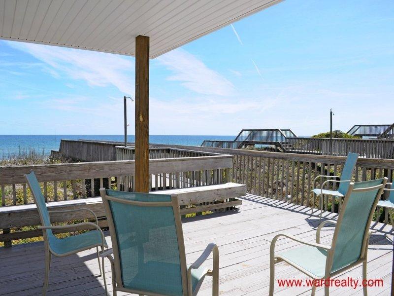 Oceanfront Deck w/ Covered Gazebo