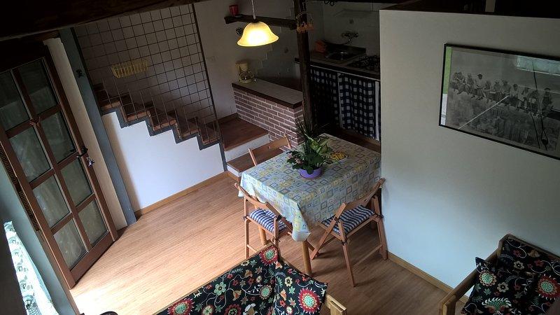 staircase to the mezzanine floor