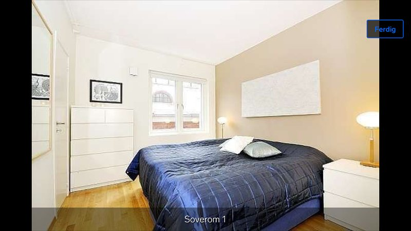 Nice bedroom with a queen size bed. The second bedroom features a double bed.