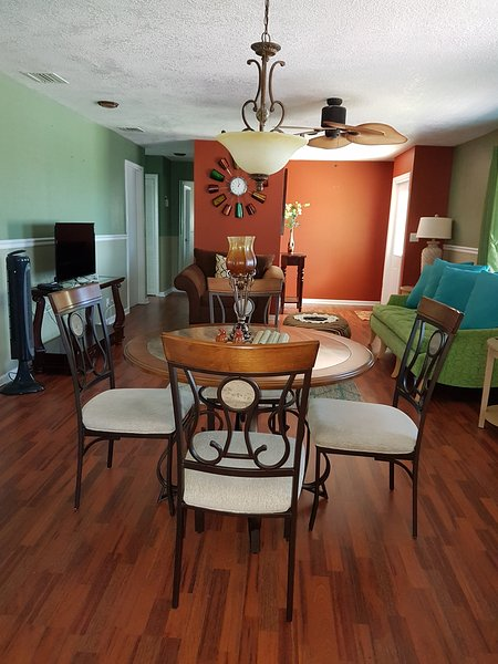 Charmingly Elegant living and dining rooms, tastefully decorated bed and bathrooms, spacious kitchen