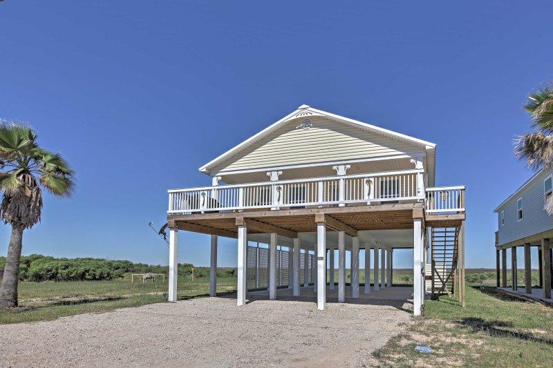 Esta casa tiene una ubicación ideal para una excelente pesca, navegación y pesca de cangrejos.
