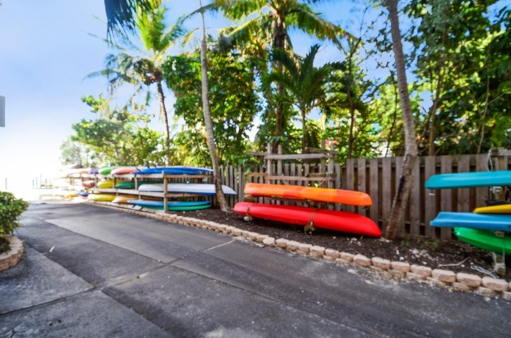 Kayak Storage Area