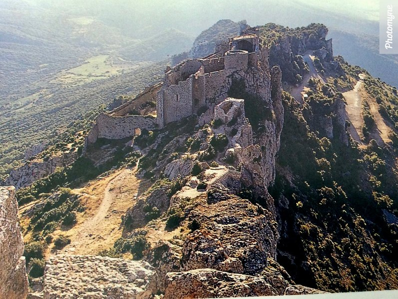 Chateau de Montsegur in the  Pyrenees