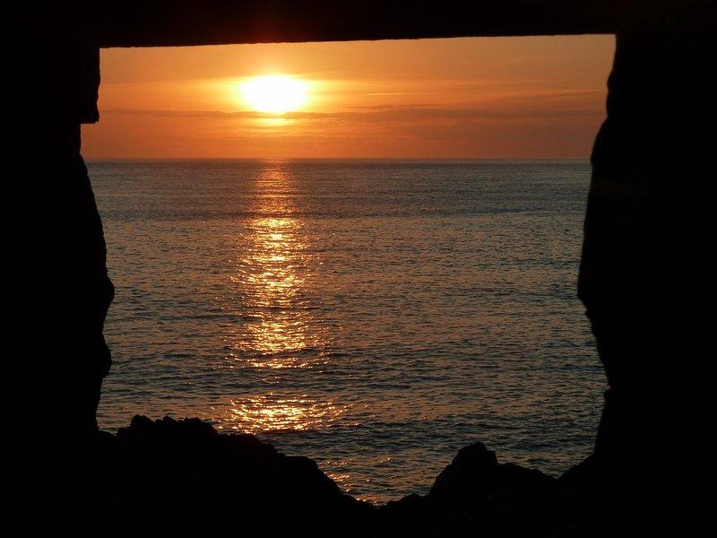 Aberfelin beach sunset