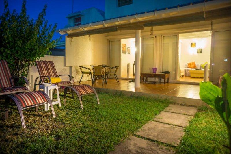 Terrasse et jardin privé