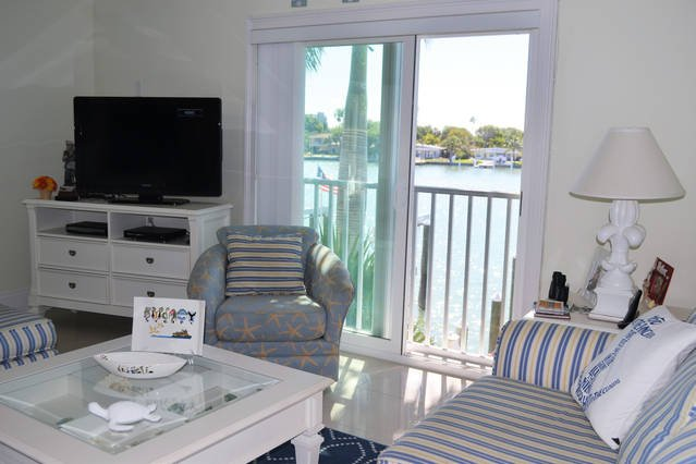 living room, gulf breezes and spot dolphins from your condo