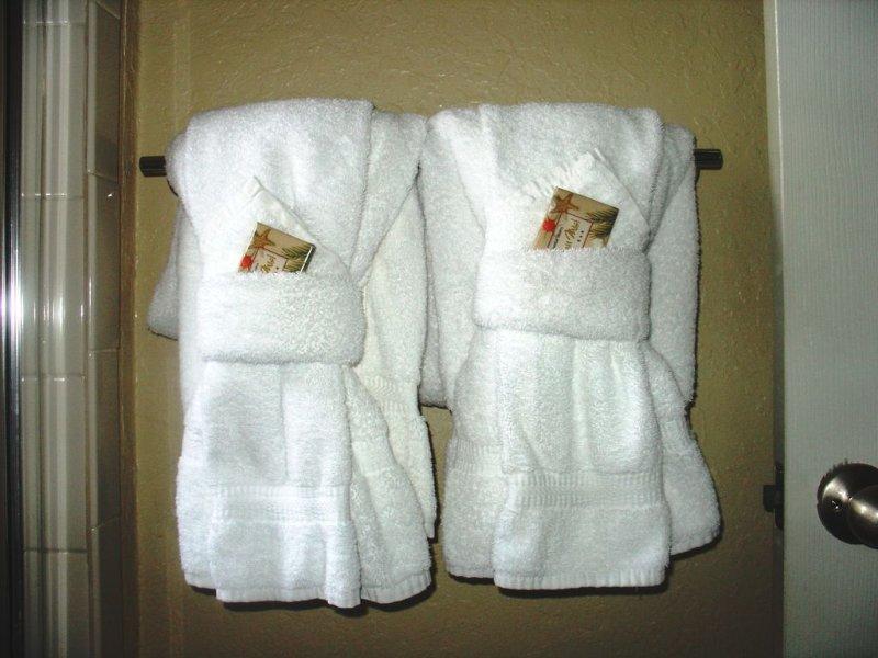 Alta qualidade toalhas de hotel entregues diariamente