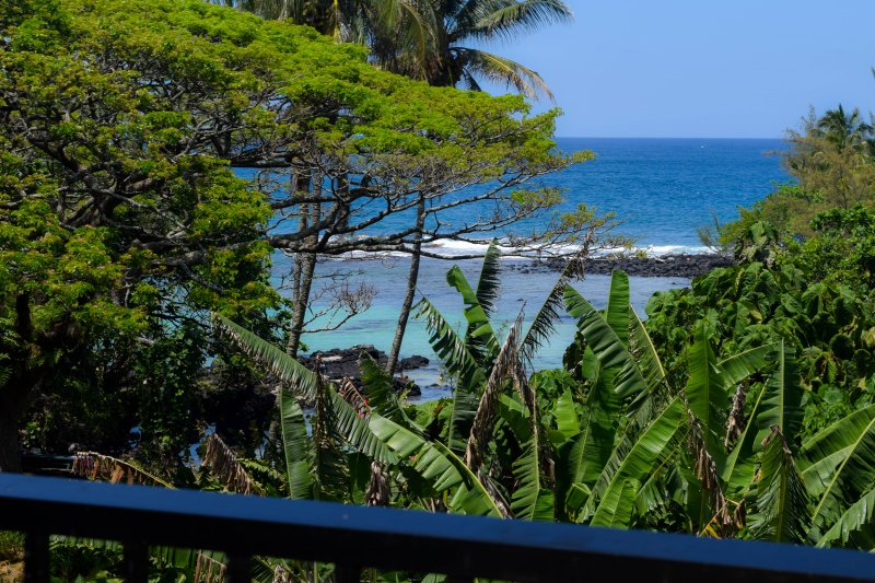 Maunaloa Shores 306 is a 2 bedroom, oceanfront condo in Hilo's beach park district.