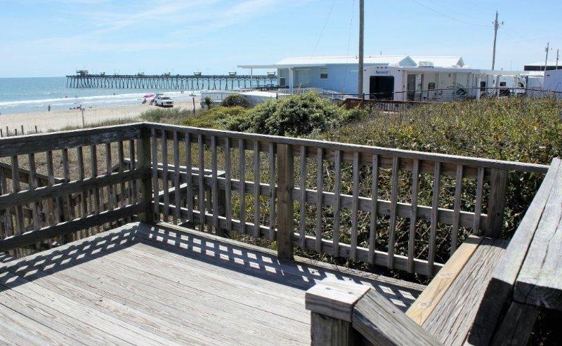 Beach access Bench