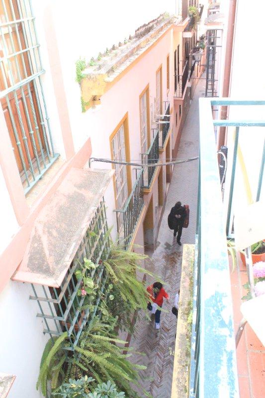 Street View, typerend voor de wijk en in de buurt van de karakteristieke wijk van Santa Cruz.