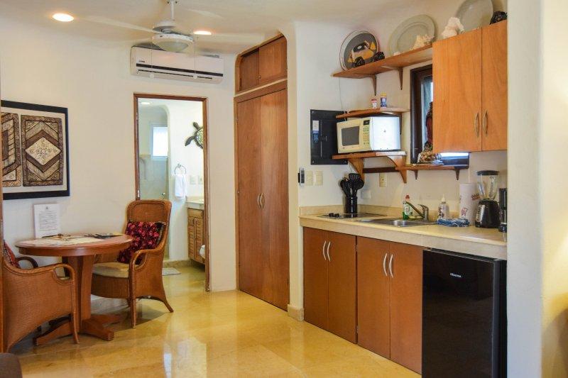 sala de estar y cocina en la habitación principal