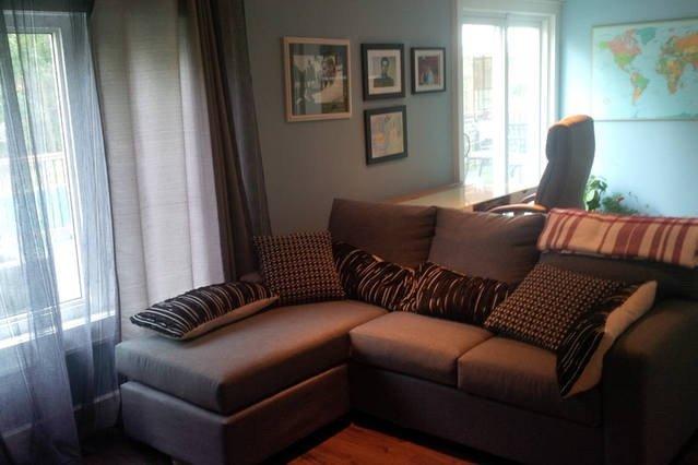sala de TV com sofá-cama, para 2 pessoas
