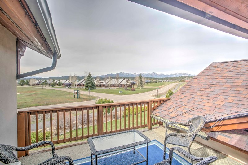 Admire the mountain views from your deck!