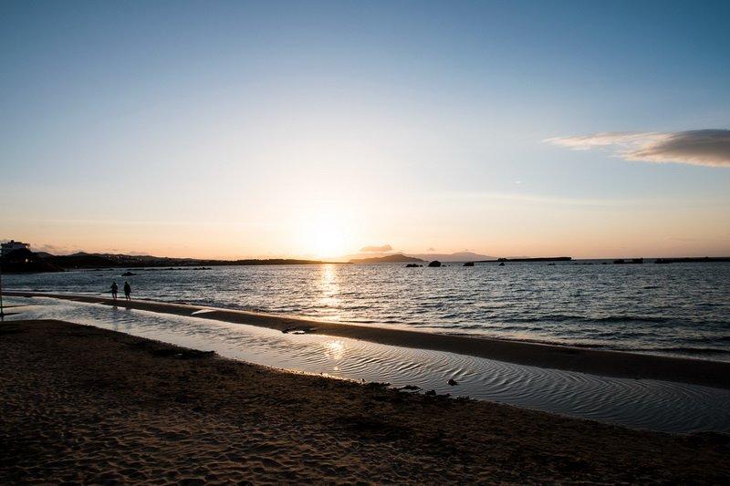 Sonnenuntergang vom Strand
