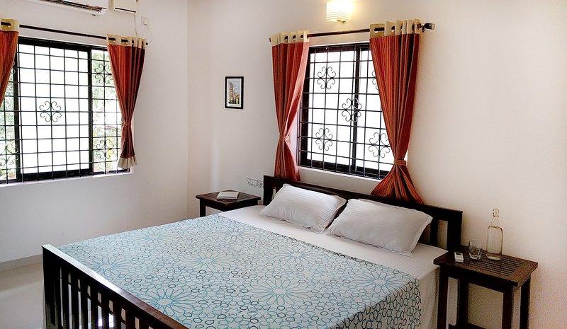 Master bedroom with AC and en suite bathroom