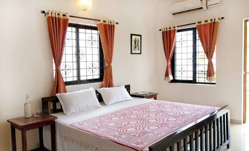 Stylish AC bedroom with Balcony