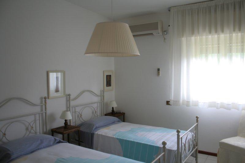 Una delle quattro camere doppie della villa