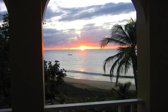 The apartment is perfectly aligned for the best sunset view Tobago has to offer