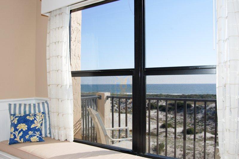 Vista al mar desde la sala de estar