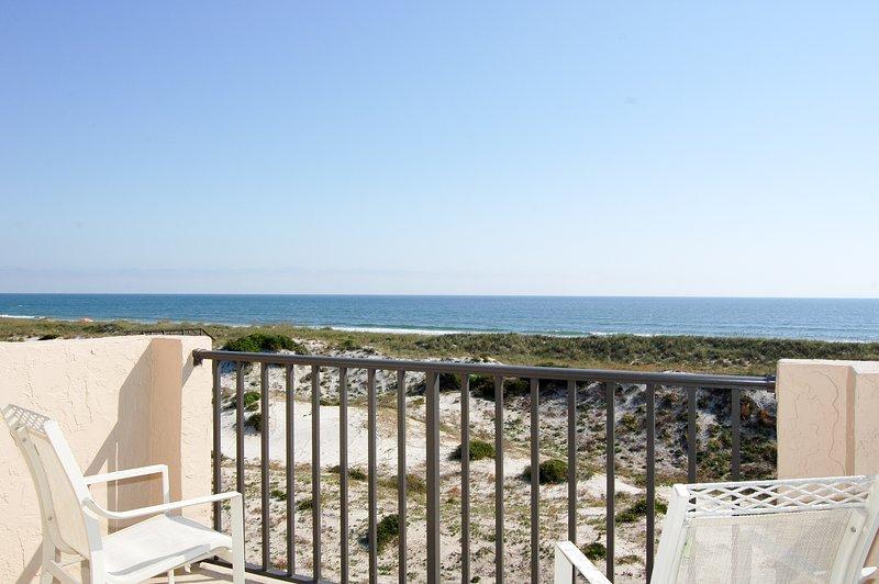 Vista al mar desde el balcón