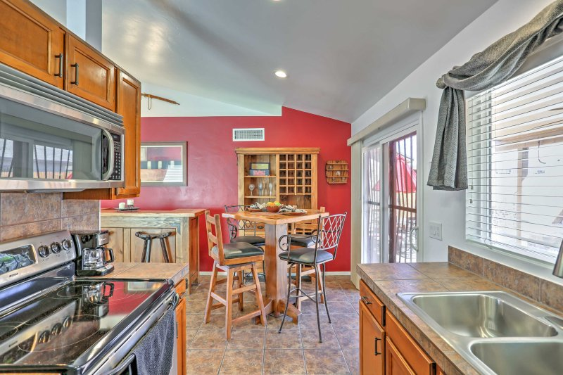 The kitchen has everything you'll need to whip up tasty meals.