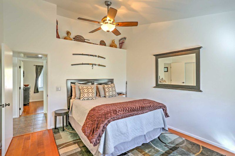 Each bedroom is decorated with inviting decor.