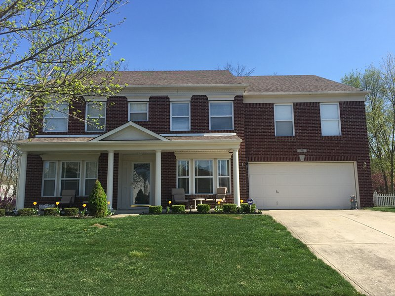 Entire 3600 square foot home.  Perfect for families and Indianapolis 500 fans.