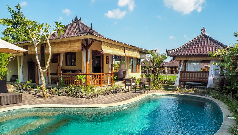 Devi's Place Ubud - Villa Shanti 3 BR private pool in Sayan quiet spacious views, holiday rental in Sayan