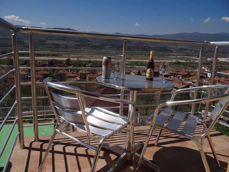 Le balcon privé de la chambre. Un bel endroit pour déguster une bière (belge), non?